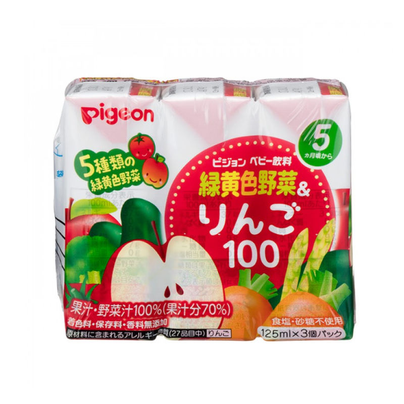 Pigeon 綠黃色蔬菜蘋果汁