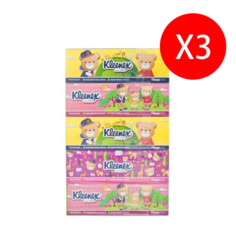 Kleenex健力氏 小熊印花盒裝面紙(5合1)